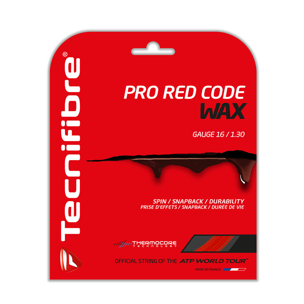 Pro Redcode Wax Tennis String Red