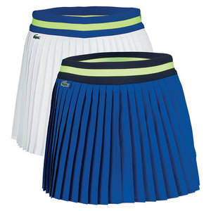 Women`s Technical Contrast Waistband Pleated Tennis Skort