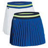 LACOSTE Women`s Technical Contrast Waistband Pleated Tennis Skort