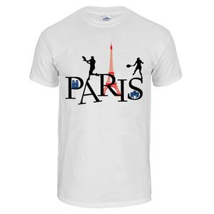 Unisex Paris Tennis Tee White