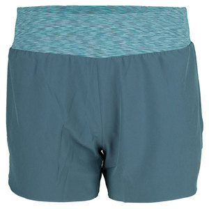 WILSON WOMENS SPORTY 3 INCH SHORT BLUE MIRAGE