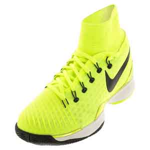 Men`s Air Zoom Ultrafly Tennis Shoes Volt and White