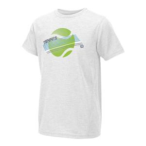 Boys` Tennis Stripe Tech Tee