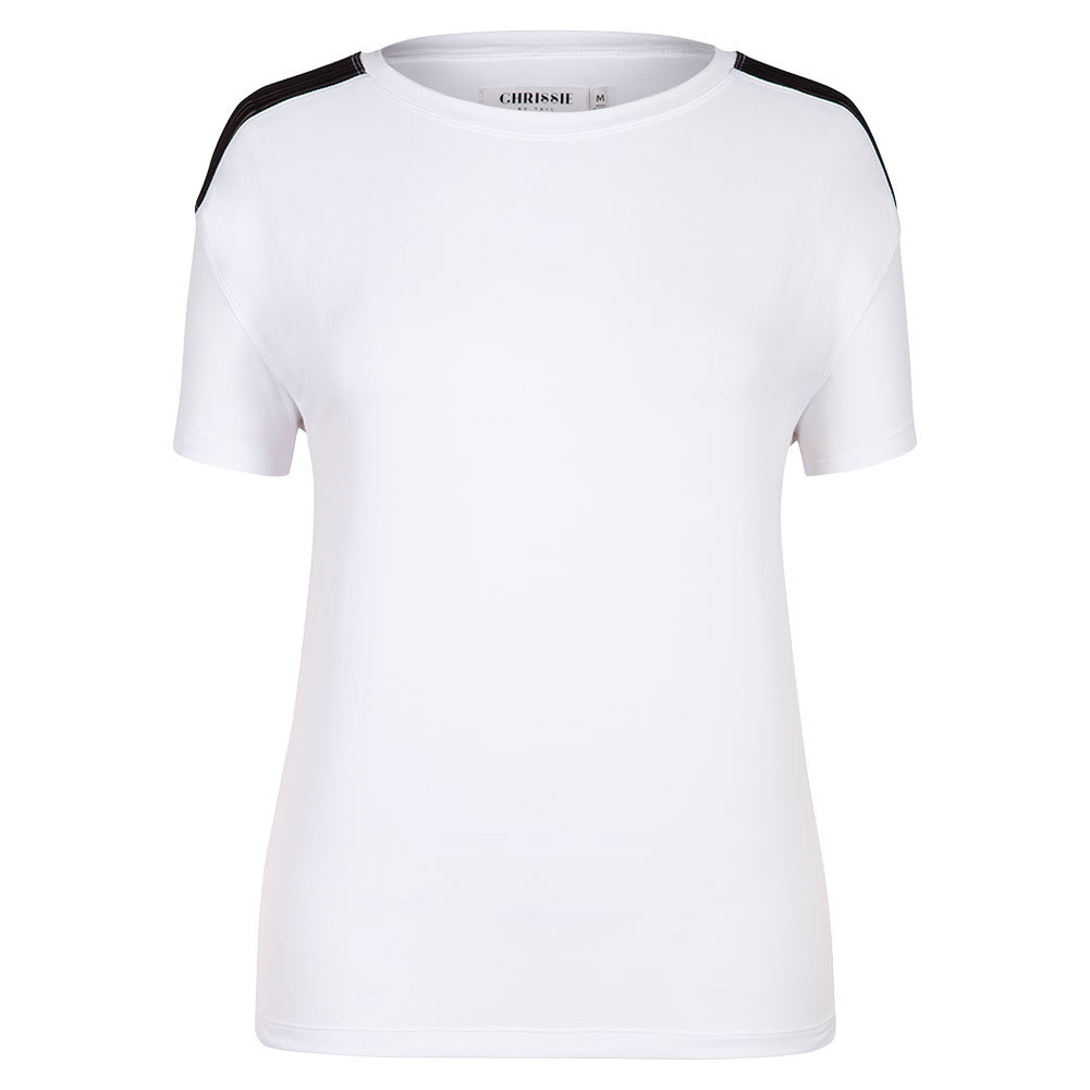 Women`s Magdalena Cap Sleeve Tennis Top White
