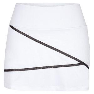 CHRISSIE BY TAIL WOMENS VIENNA 13.5 INCH TNS SKORT WHITE