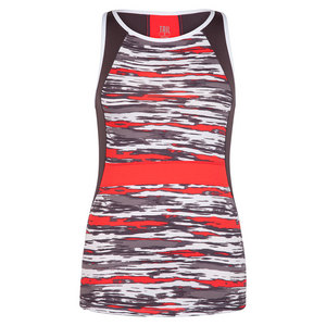 Women`s Aubreanna Tennis Tank Brush Stroke