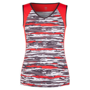 Women`s Asha Tennis Tank Brush Stroke