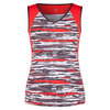 Women`s Asha Tennis Tank Brush Stroke by TAIL