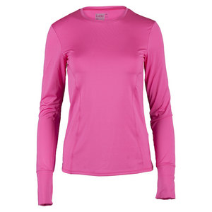 LUCKY IN LOVE WOMENS LONG SLEEVE SPF TNS CREW PNKBRRY