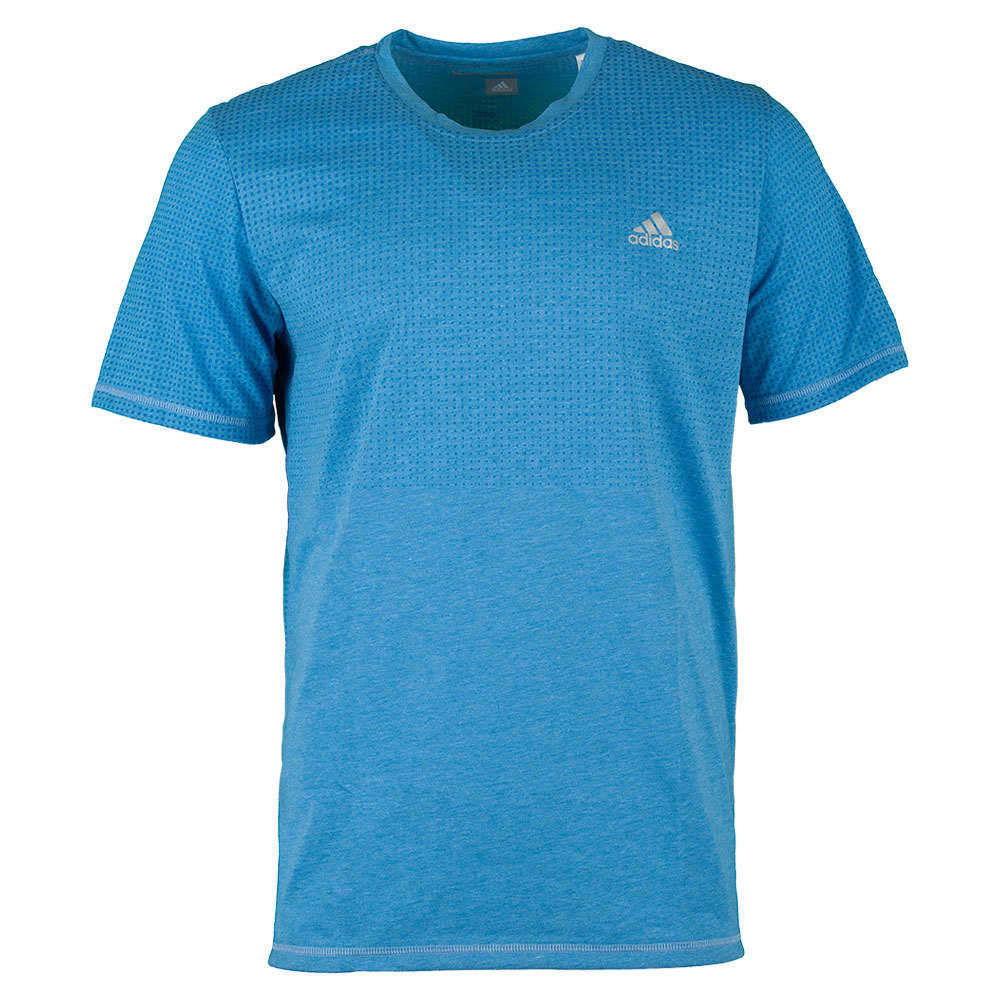 Men`s Aeroknit Climacool Tennis Tee Shock Blue Heather