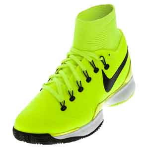 Men`s Air Zoom Ultrafly Clay Tennis Shoes Volt and White