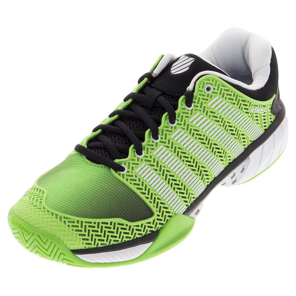 Men's Hypercourt Express Tennis Shoes Flash Green And Black Mesh