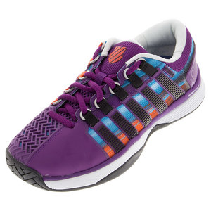 K-SWISS WOMENS HYPERCOURT TNS SHOES PURP/PRINT