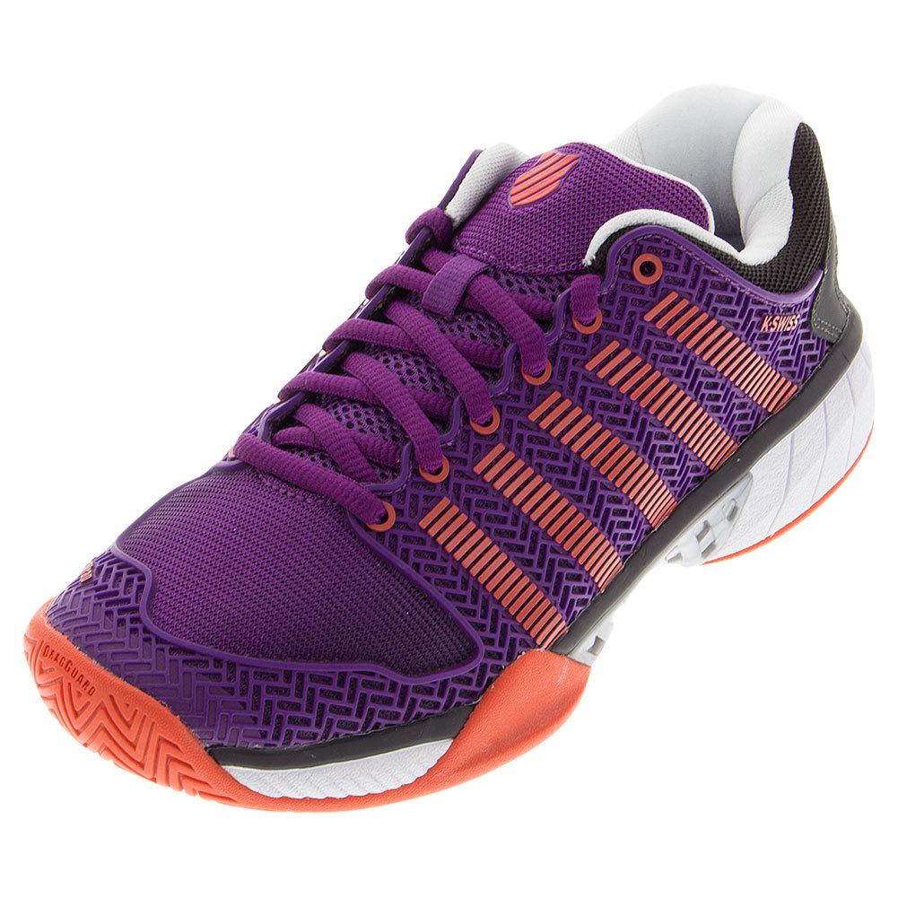 Women's Hypercourt Express Tennis Shoes Purple Magic And Hot Orange
