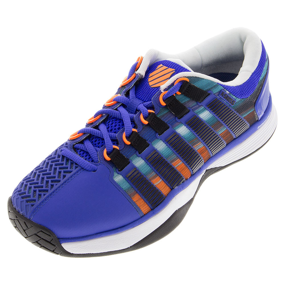 Men's Hypercourt Tennis Shoes Electric Blue And Graphic Print