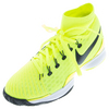 NIKE Juniors` Air Zoom Ultrafly Clay Tennis Shoes Volt and white