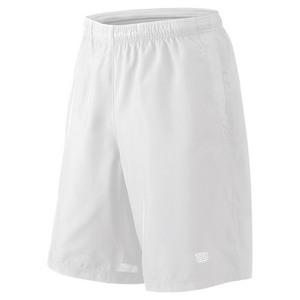 Men`s Team Woven 10 Inch Tennis Short White