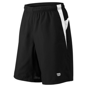 Men`s Team Woven 10 Inch Tennis Short Black