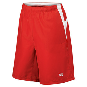 WILSON Men`s Team Woven 10 Inch Tennis Short Red