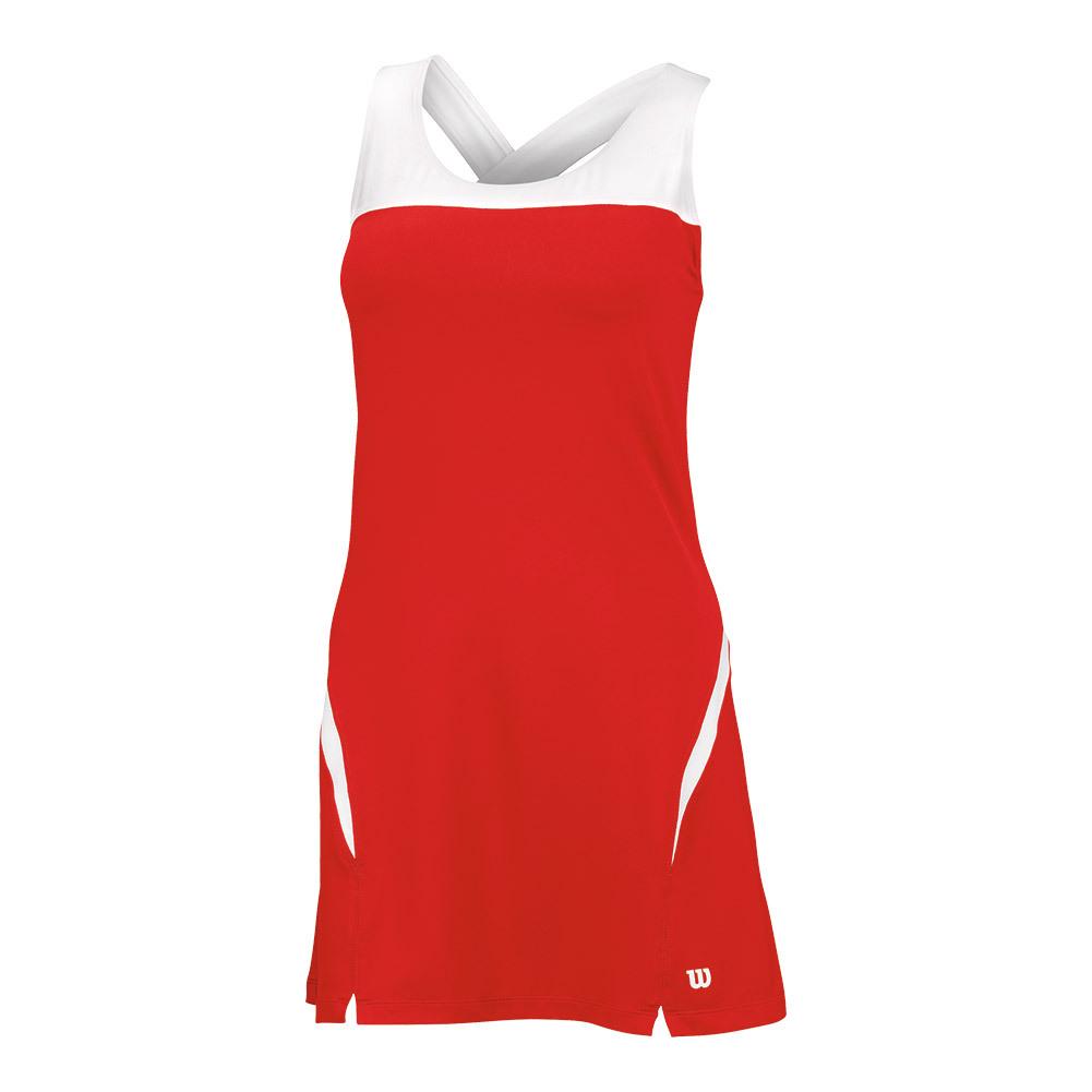 Women's Team Tennis Dress Ii Wilson Red