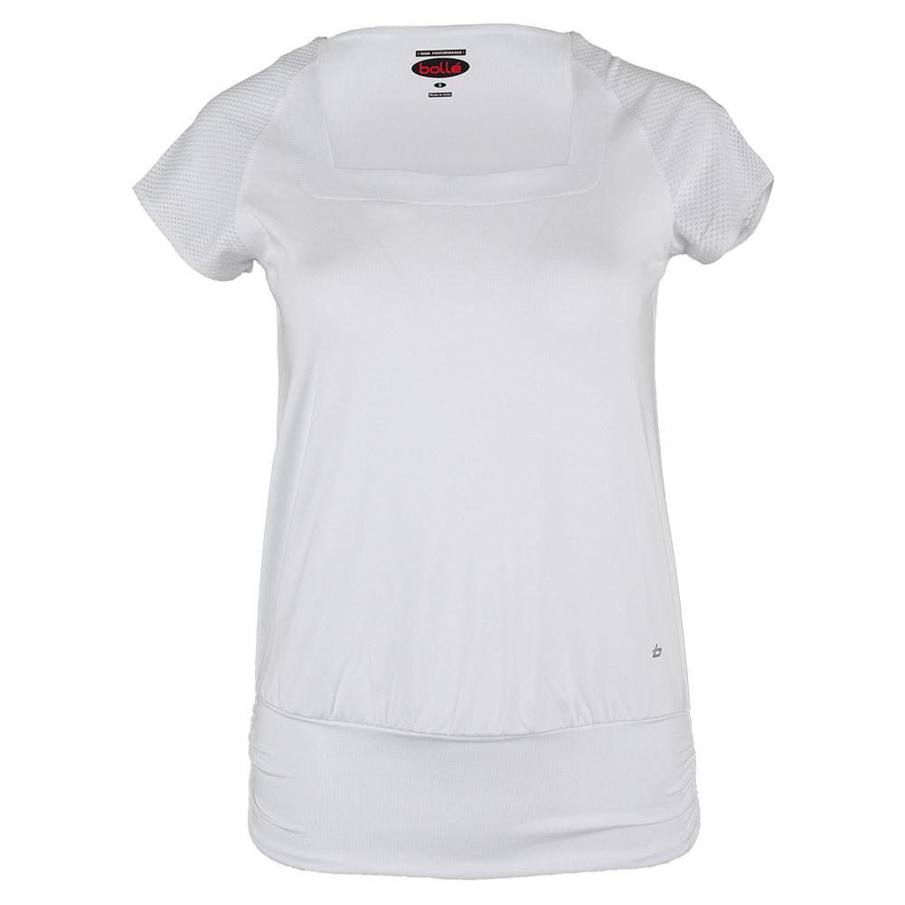 Women's Club Whites Cap Sleeve Tennis Top