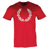 Men`s Textured Laurel Wreath Tennis Tee 696_BLOOD