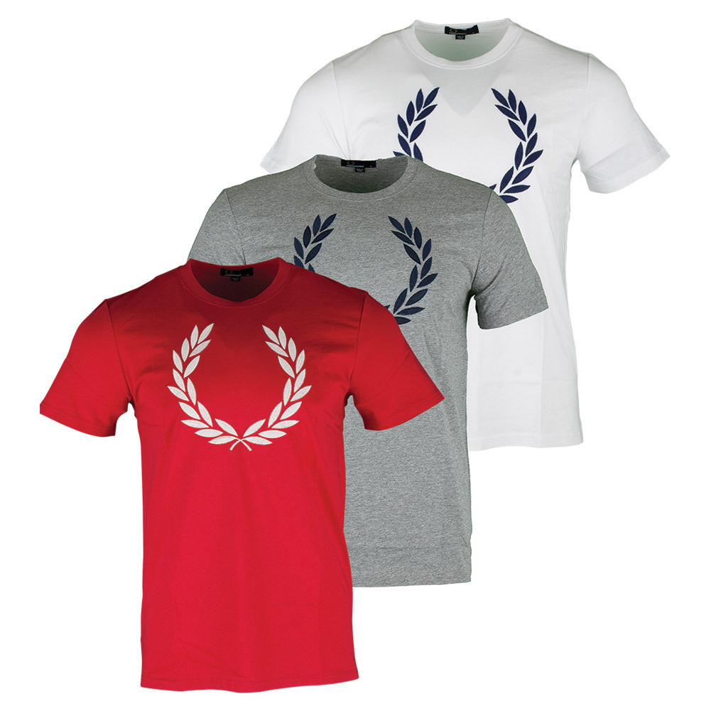 Men's Textured Laurel Wreath Tennis Tee