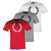 Men`s Textured Laurel Wreath Tennis Tee by FRED PERRY