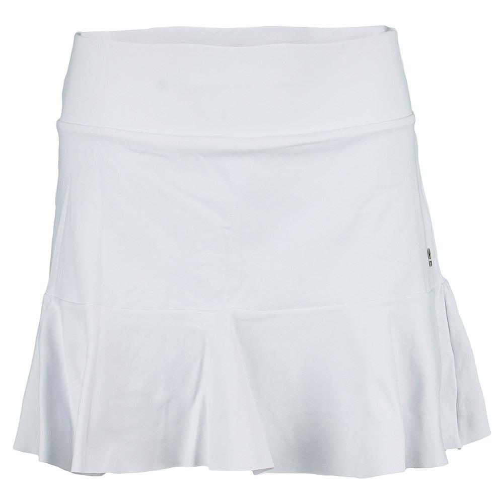 Women`s Peek A Boo 14.5 Inch Skirt White