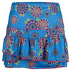 Women`s Long Dreamer Rouched Tier Tennis Skort Print by LUCKY IN LOVE