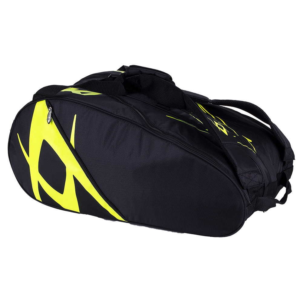 Team Mega Tennis Bag Black And Neon Yellow