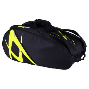 Team Mega Tennis Bag Black and Neon Yellow