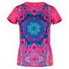 LUCKY IN LOVE Women`s Sunsation Tennis Tee Shocking Pink