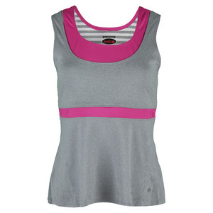 BOLLE WOMENS IN THE PINK TENNIS TANK GRAY HTHR