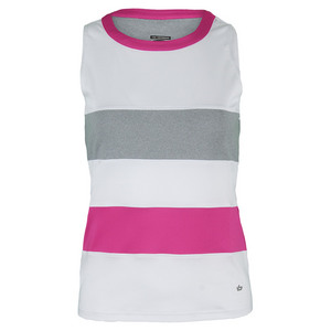 BOLLE WOMENS IN THE PINK TENNIS TANK WHITE