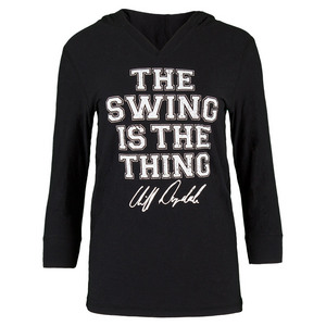 Women`s Swing is the Thing Tennis Hoodie Black Burnout