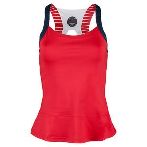 Women`s All American Racerback Tennis Tank Bolle Red