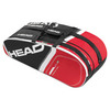 HEAD Core 6R Combi Tennis Bag Black and Red