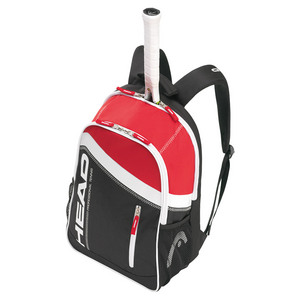 Core Tennis Backpack Black and Red