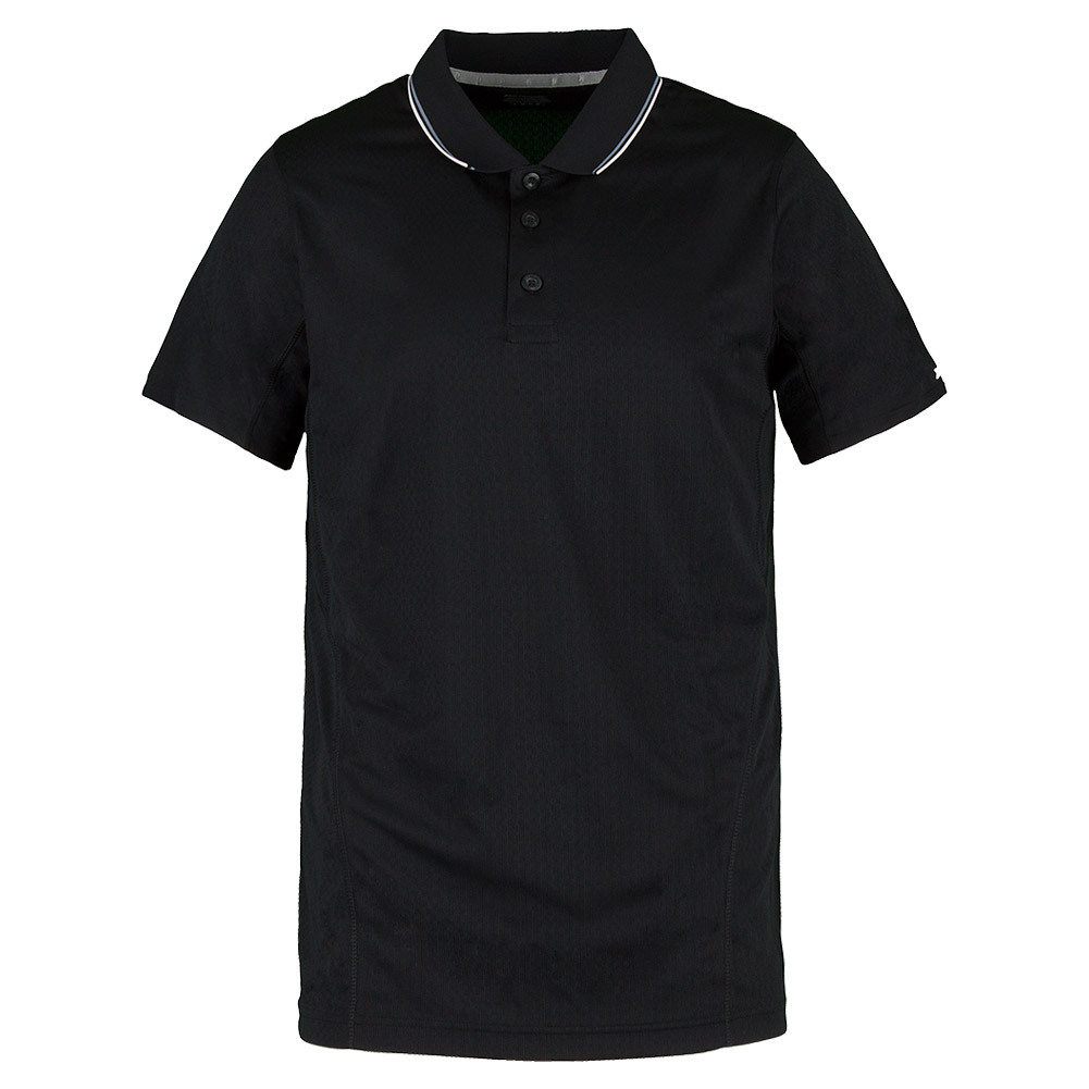 Men`s Rib Collar Tennis Polo