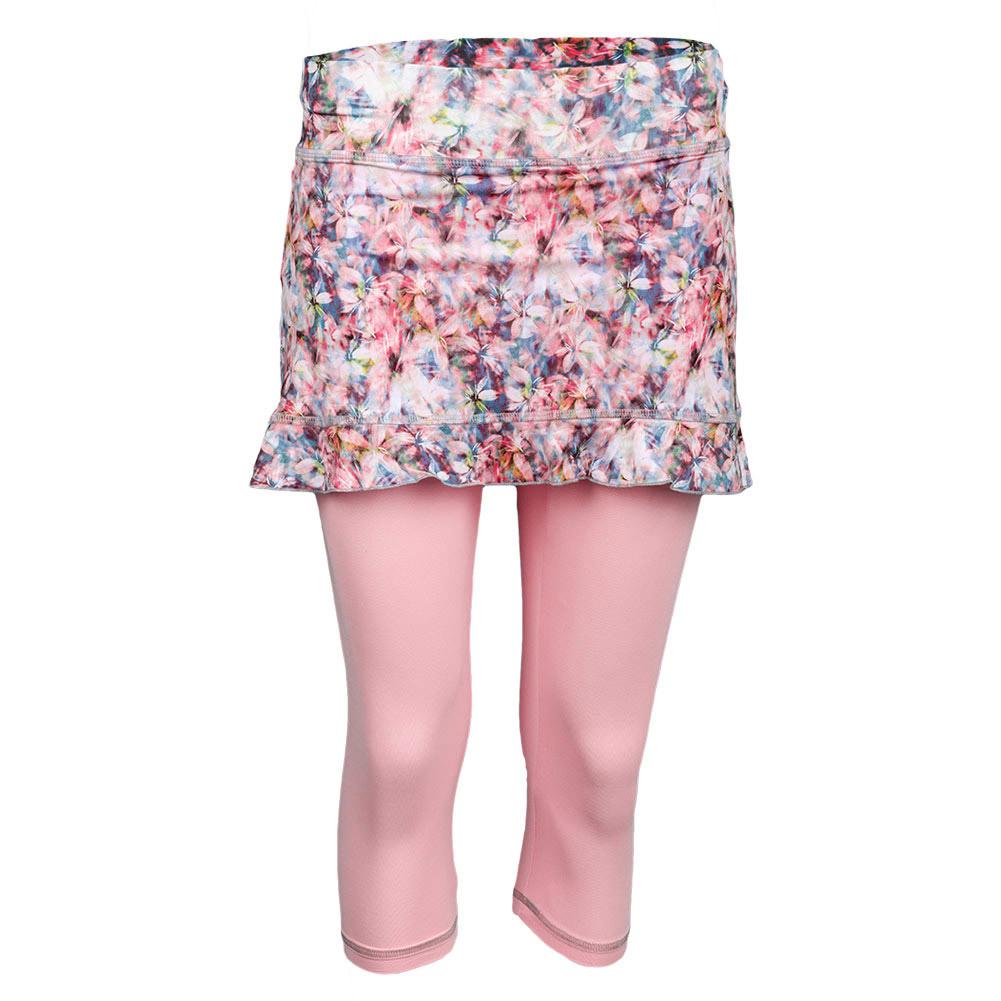 Women`s Blossom Abaza Tennis Skort Print and Petal Pink