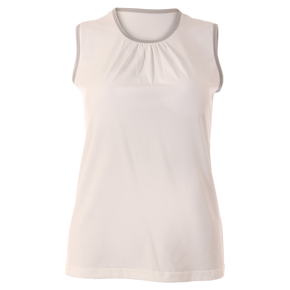 Women's Blossom Classic Sleeveless Tennis Top White