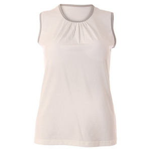 Women`s Blossom Classic Sleeveless Tennis Top White