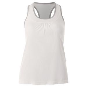 Women`s Blossom Racerback Tennis Tank White