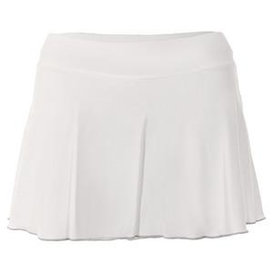 Women`s Blossom 12 Inch Tennis Skort White