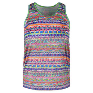 Girls` Racerback Tennis Tank Print