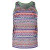 LUCKY IN LOVE Girls` Racerback Tennis Tank Print