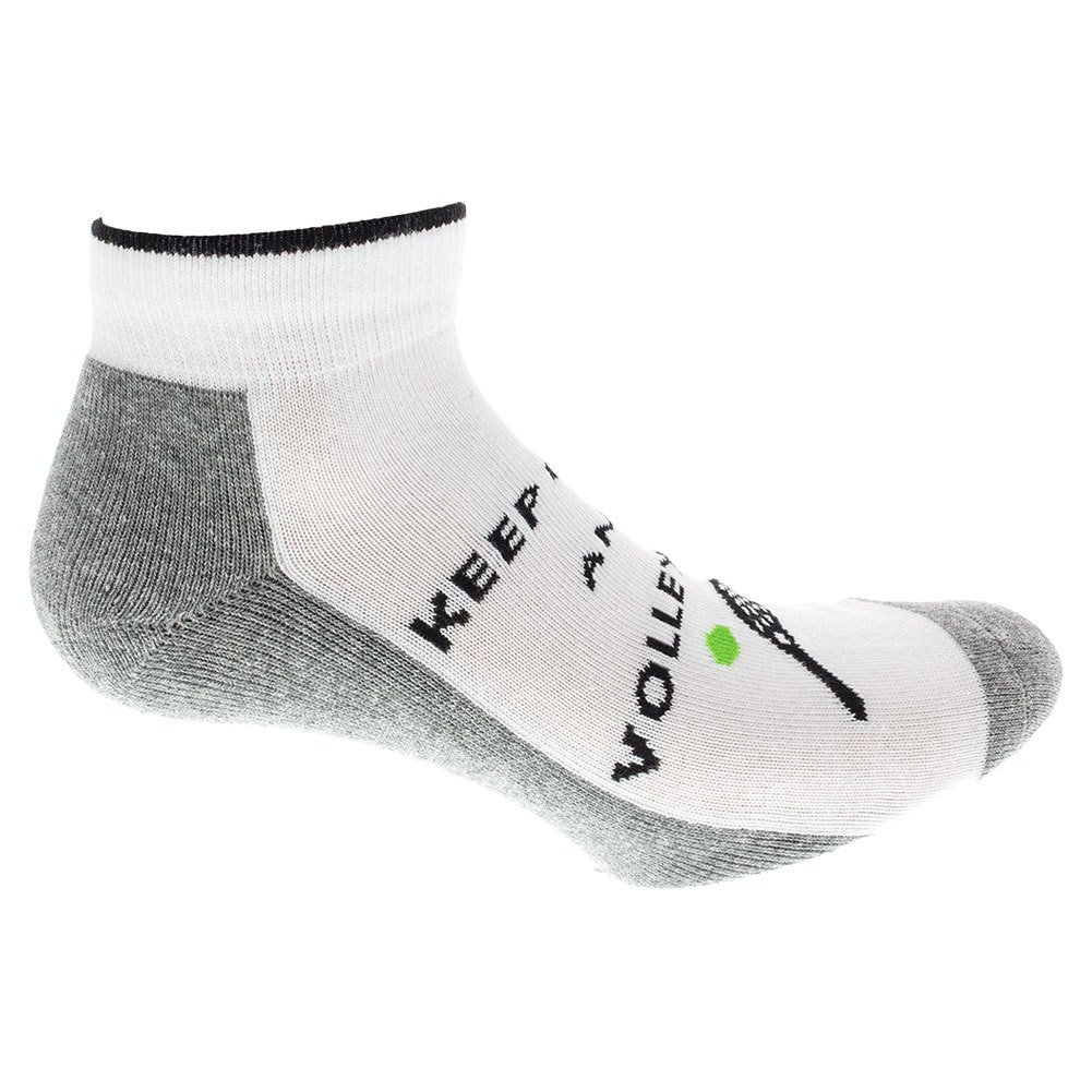 Women's Volley On Tennis Socks White And Gray