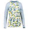 LUCKY IN LOVE Women`s Denim Days Long Sleeve Tennis Crew Print