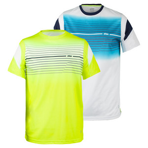 Men`s Screenprint Crewneck Tennis Top